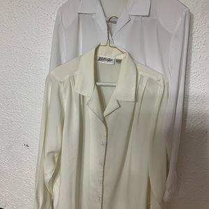 2 Yves St. Clair polyester Blouses size 10